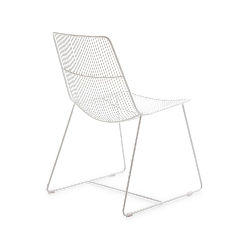 Chaise 55x59x83 Métal Blanc - image 53186