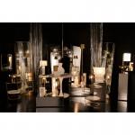 Tischleuchte Mit Display 27X8X29 Marmor/Metall Weiß/Golden
