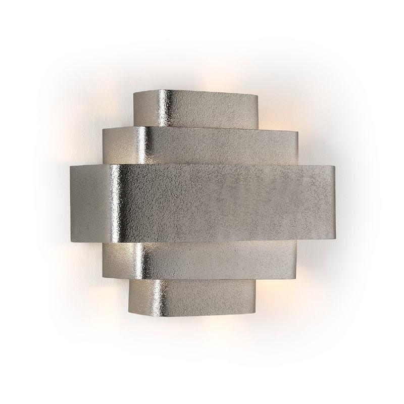 Wall Lamp 38X16X29 Metal Silver - image 53197