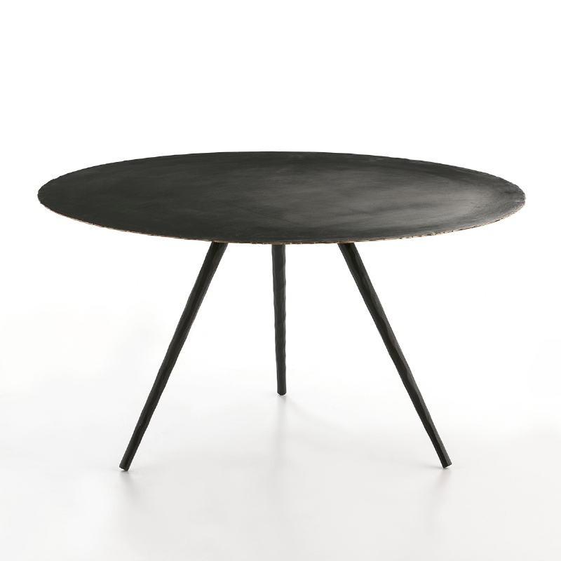 Table basse 77x77x40 Métal Noir - image 53223