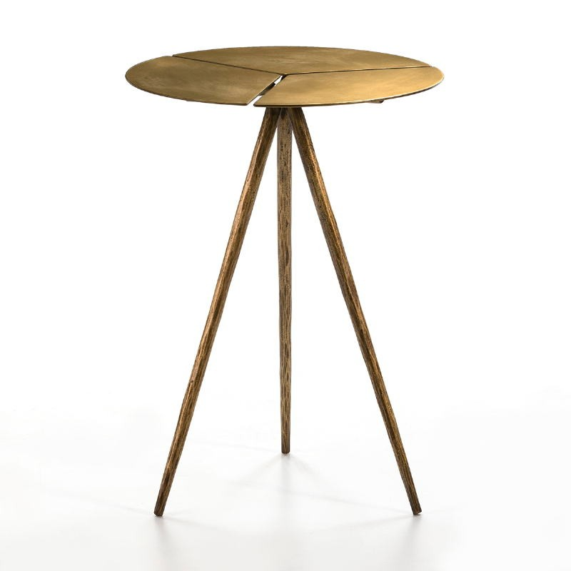 Side Table 40X40X57 Metal Golden