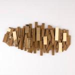 Sculpture 100X5X50 Metal Golden