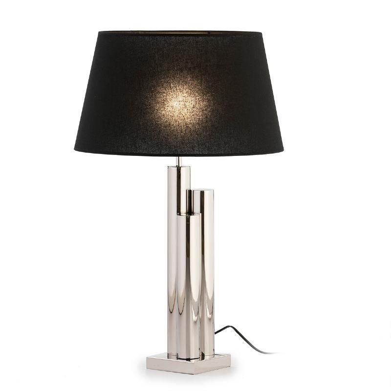Lampe de Table sans abat-jour 18x18x49 Métal Nickel - image 53253