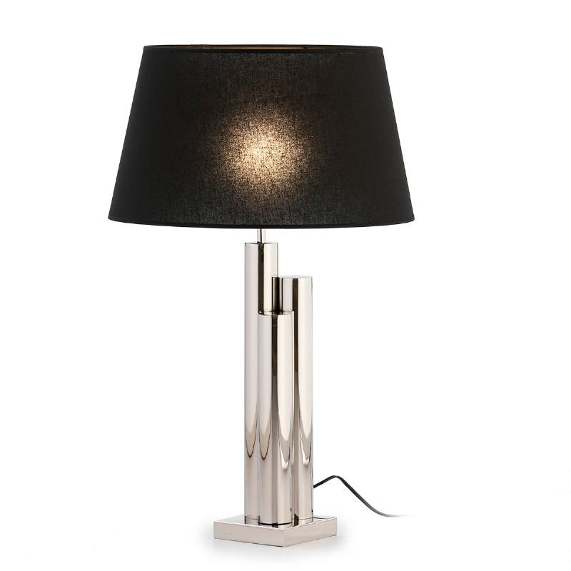 Table Lamp Without Lampshade 18X18X49 Metal Nickel