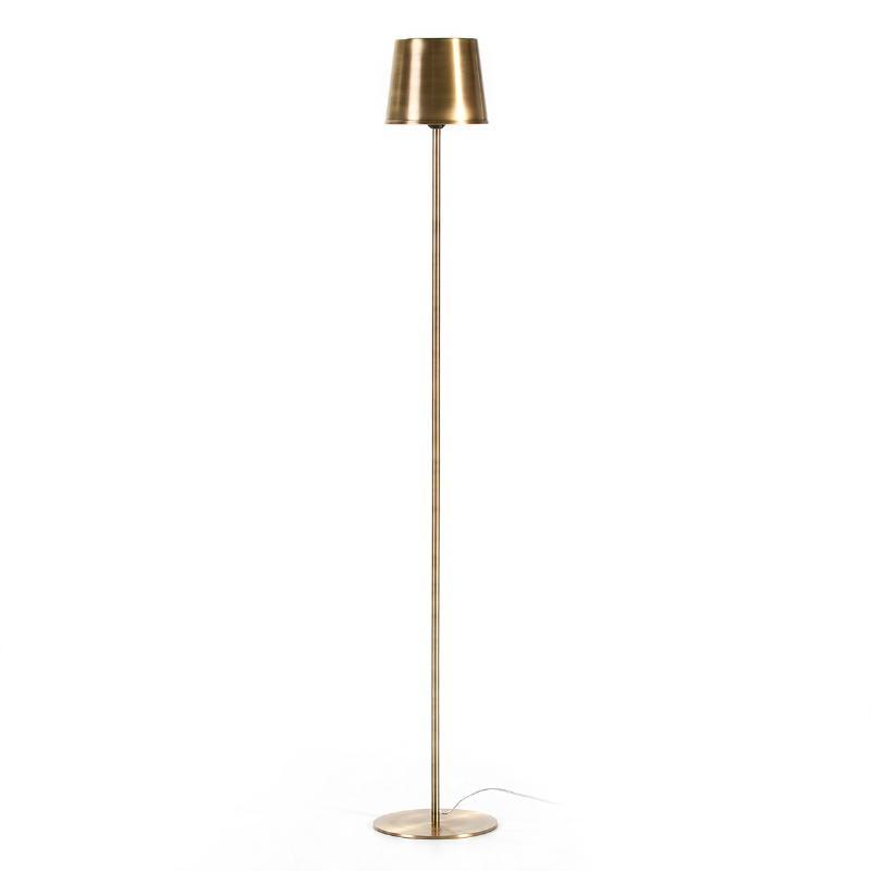 Lampada A Stelo 24X24X170 Metallo Dorato