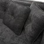 Sofa 4 Plätze 240X95X70 Schwarzer Stoff
