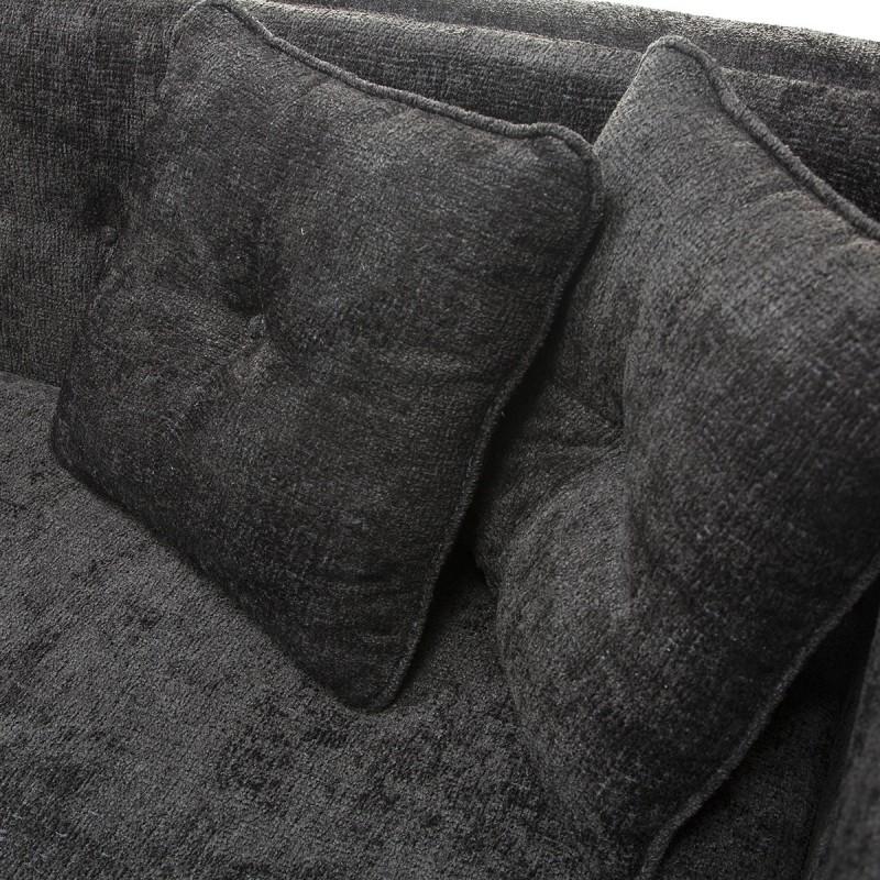 Canapé 4 places 240x95x70 tissu Noir - image 53279