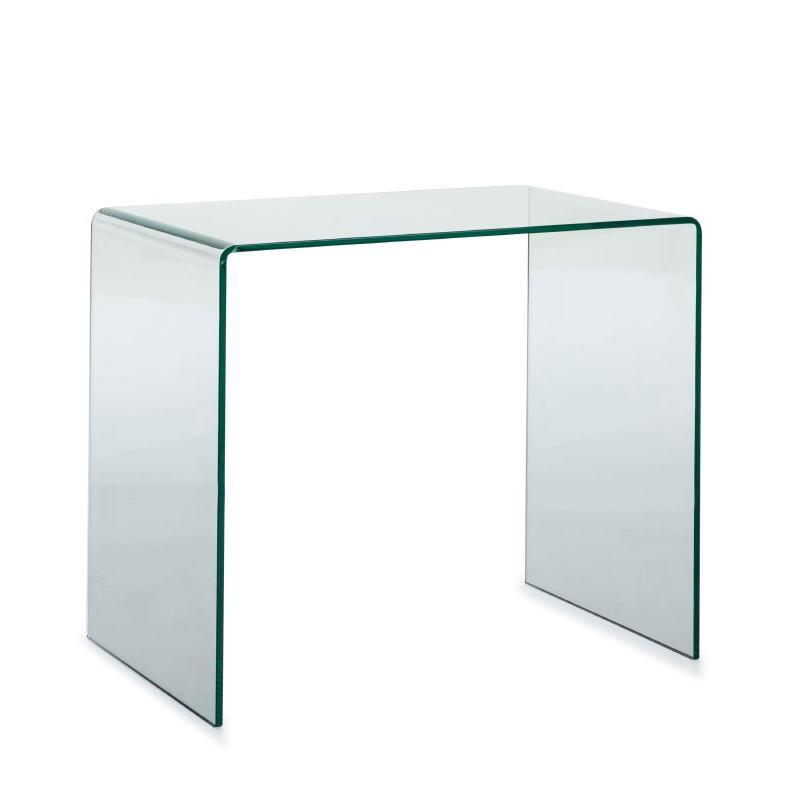 Scrittoio Design 85X55X75 Vetro Trasparente