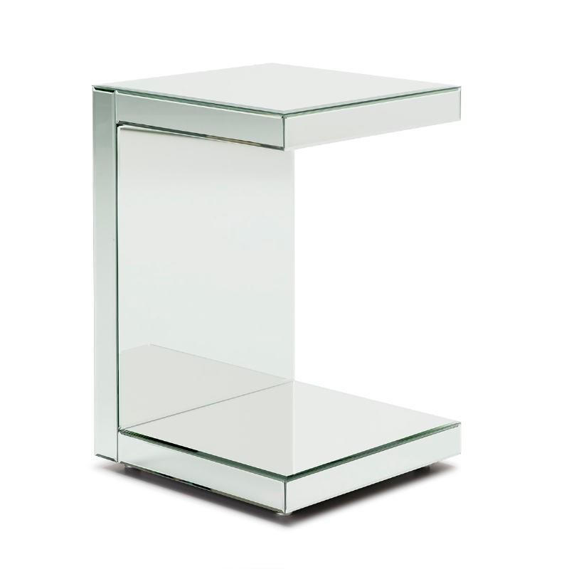 Table d'appoint, bout de canapé 40x40x60 Miroir - image 53286