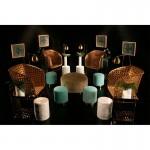 Table d'appoint, bout de canapé 40x40x60 Miroir