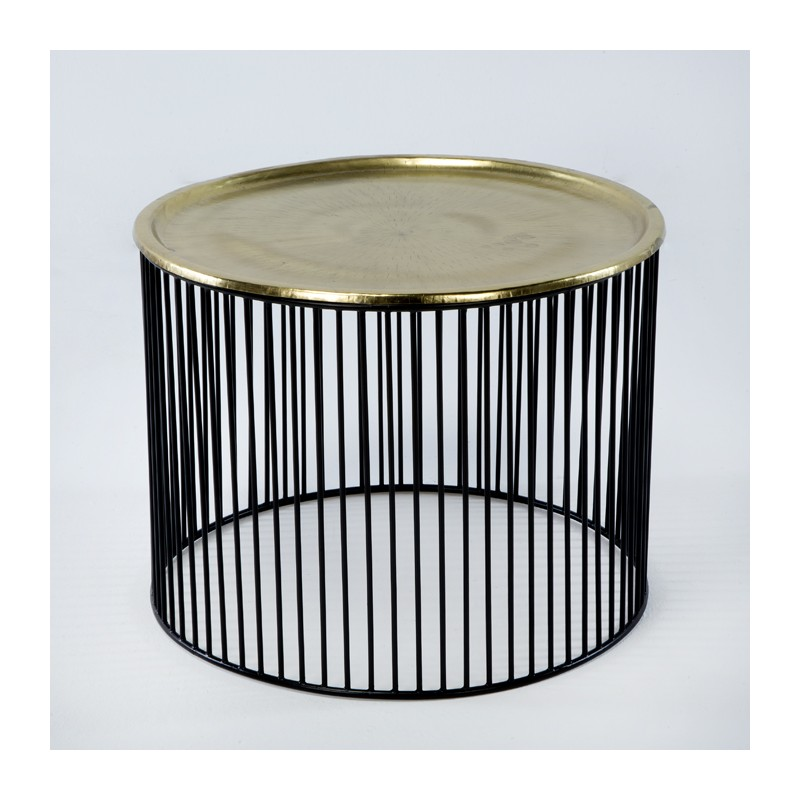 Auxiliary Table 56X56X42 Iron Black Golden - image 53289
