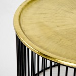 Auxiliary Table 56X56X42 Iron Black Golden