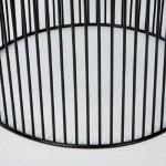 Table d'appoint, bout de canapé 56x56x42 Fer Noir Argent