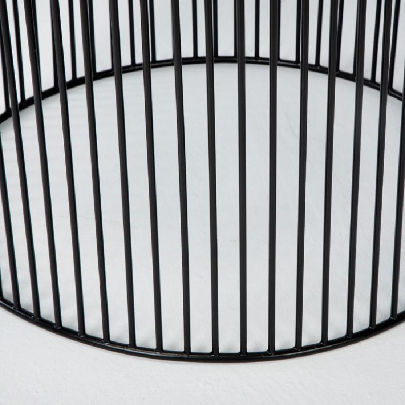 Table d'appoint, bout de canapé 56x56x42 Fer Noir Argent - image 53297