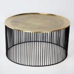 Table basse 80x80x42 Fer Noir Doré