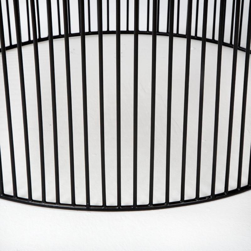 Table basse 80x80x42 Fer Noir Doré - image 53306