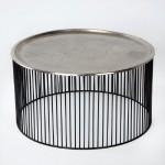 Coffee Table 80X80X42 Iron Black Silver
