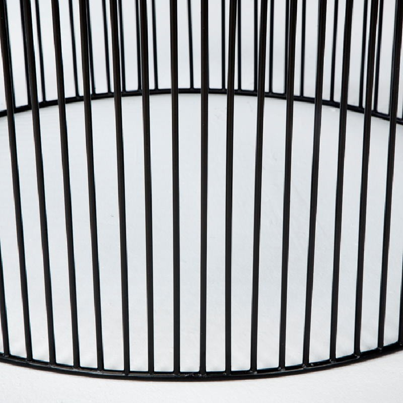 Table basse 80x80x42 Fer Noir Argent - image 53312
