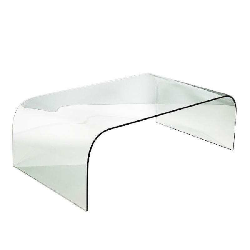 Table basse 130x75x42 Verre Transparent - image 53315