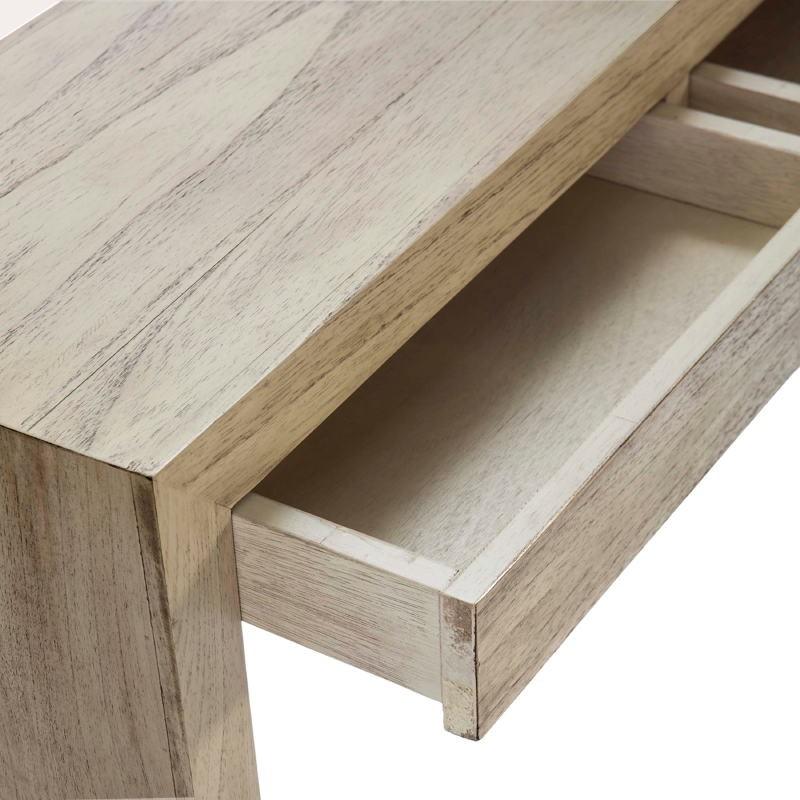 Konsole 3 Schubladen 140X30X75 Weiß Gebleichtes Holz - image 53317