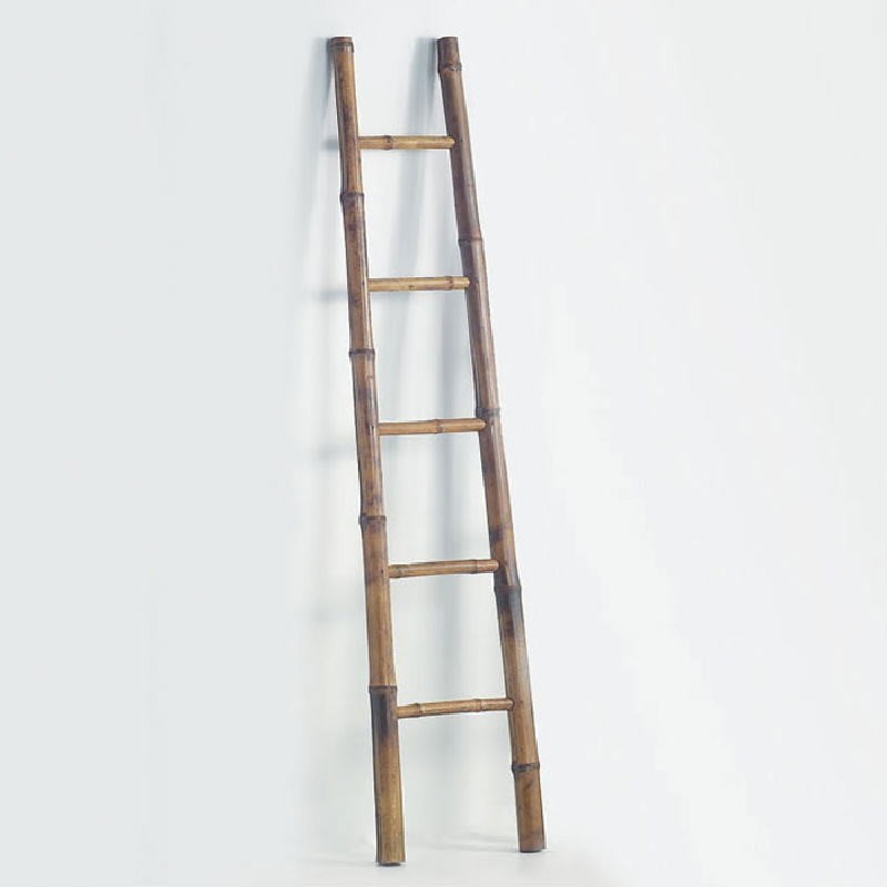 Escalera 30X7X150 Bambu Marron