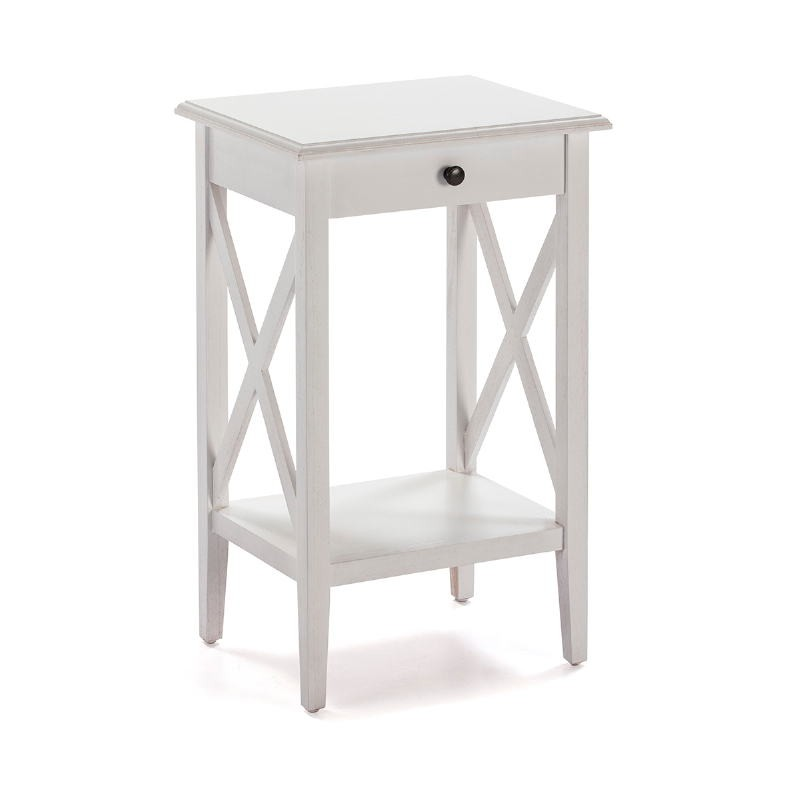 Nachttisch 42X35X70 Weißes Holz