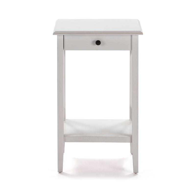 Nachttisch 42X35X70 Weißes Holz - image 53336