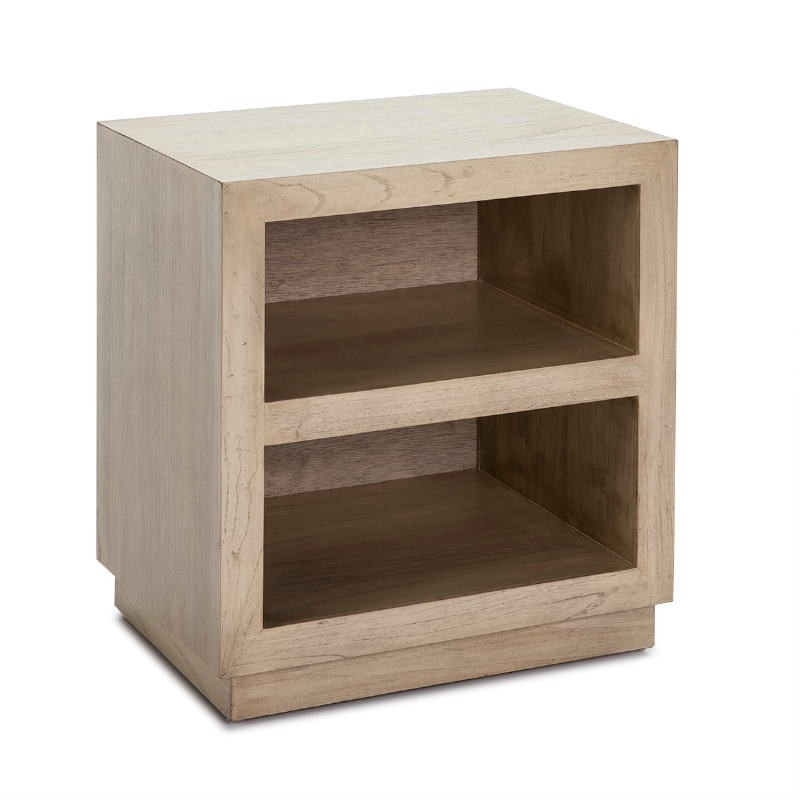 Bedside Table 50X40X55 Wood White Veiled - image 53337