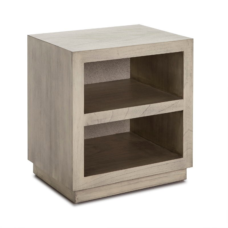 Bedside Table 50X40X55 Wood Grey Veiled - image 53338