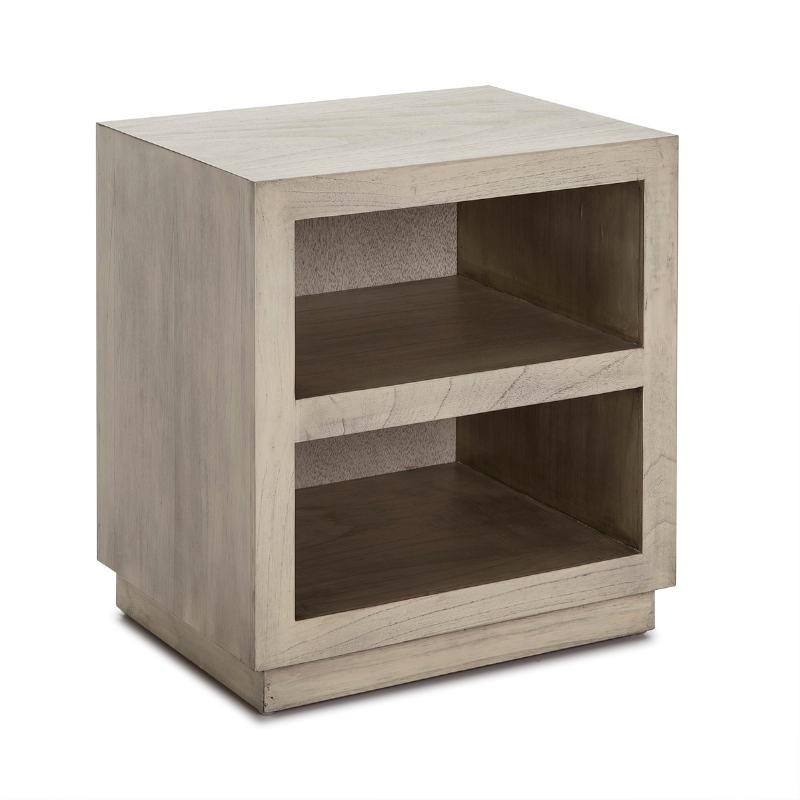 Table de chevet 50x40x55 Bois Gris blanchi