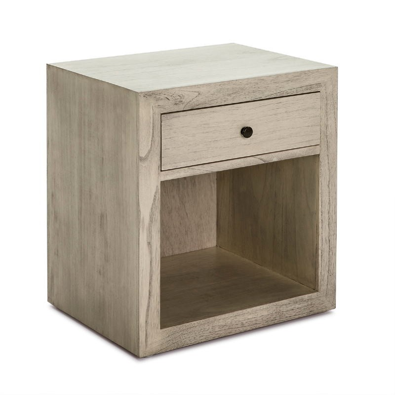 Nachttisch 50X40X55 Gebleichtes Graues Holz Modell 2 - image 53343