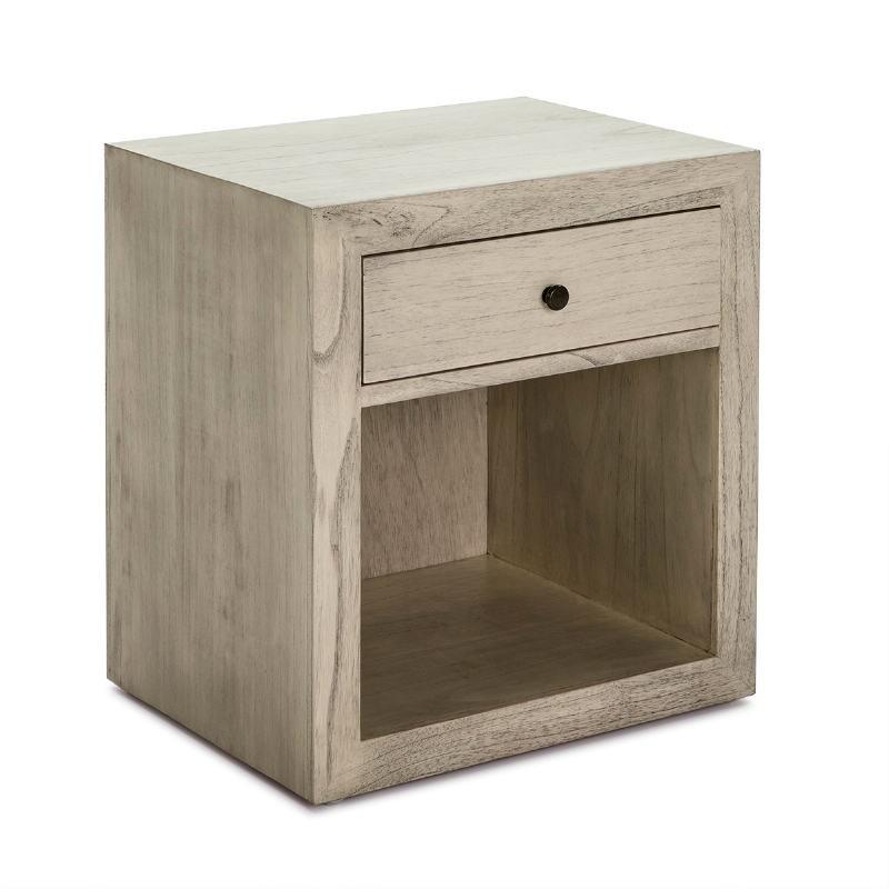 Table de chevet 50x40x55 Bois Gris blanchi Modèle 2 - image 53343
