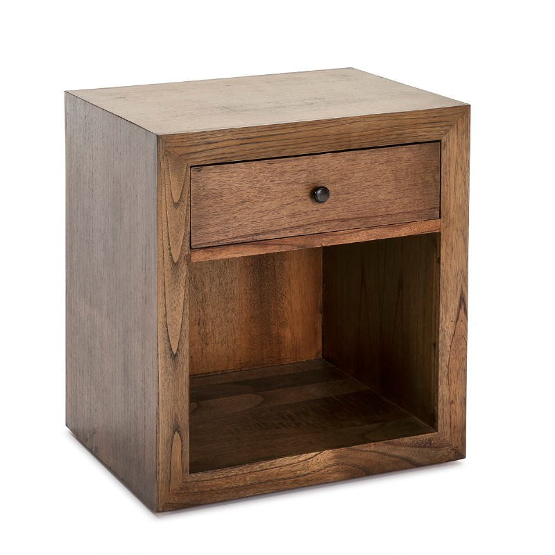 Bedside Table 50X40X55 Wood Natural Veiled - image 53347