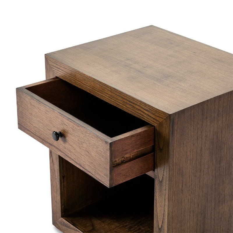 Bedside Table 50X40X55 Wood Natural Veiled - image 53348