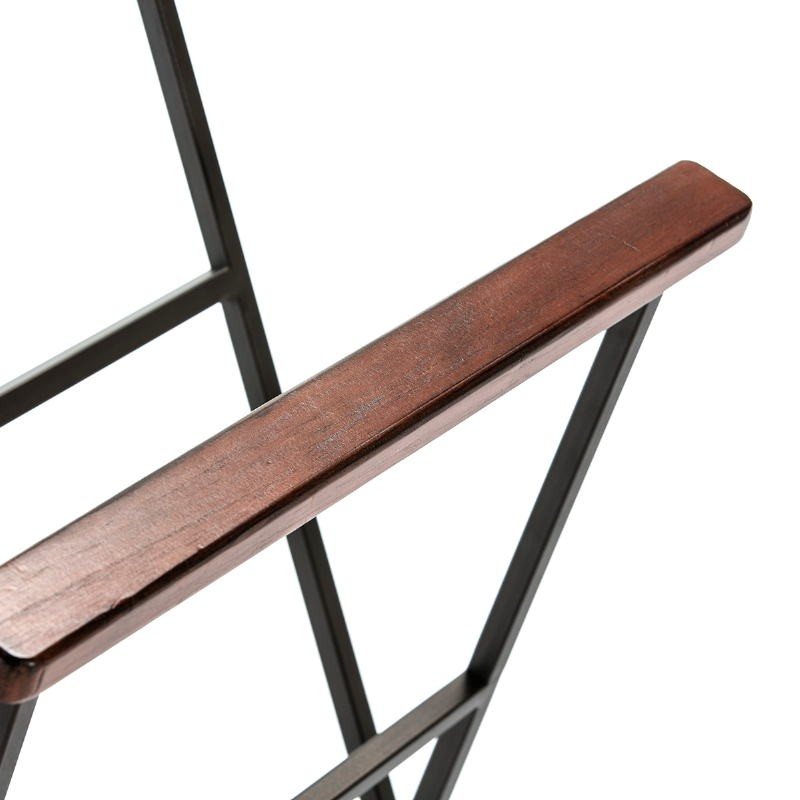 Clothes Rack Trouser Press 46X30X110 Metal Wood Brown - image 53350