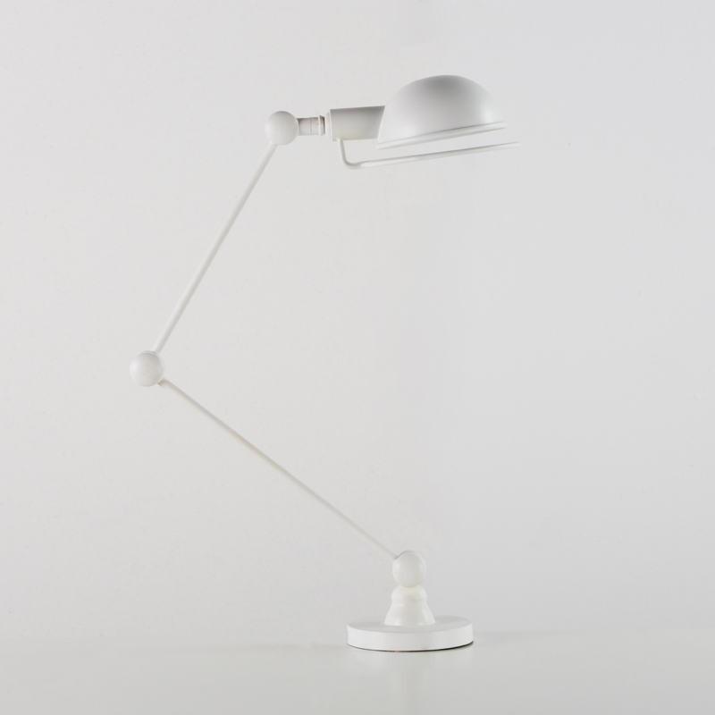 Lampada Da Tavolo Con Paralume 50X13X50 Metallo Bianco
