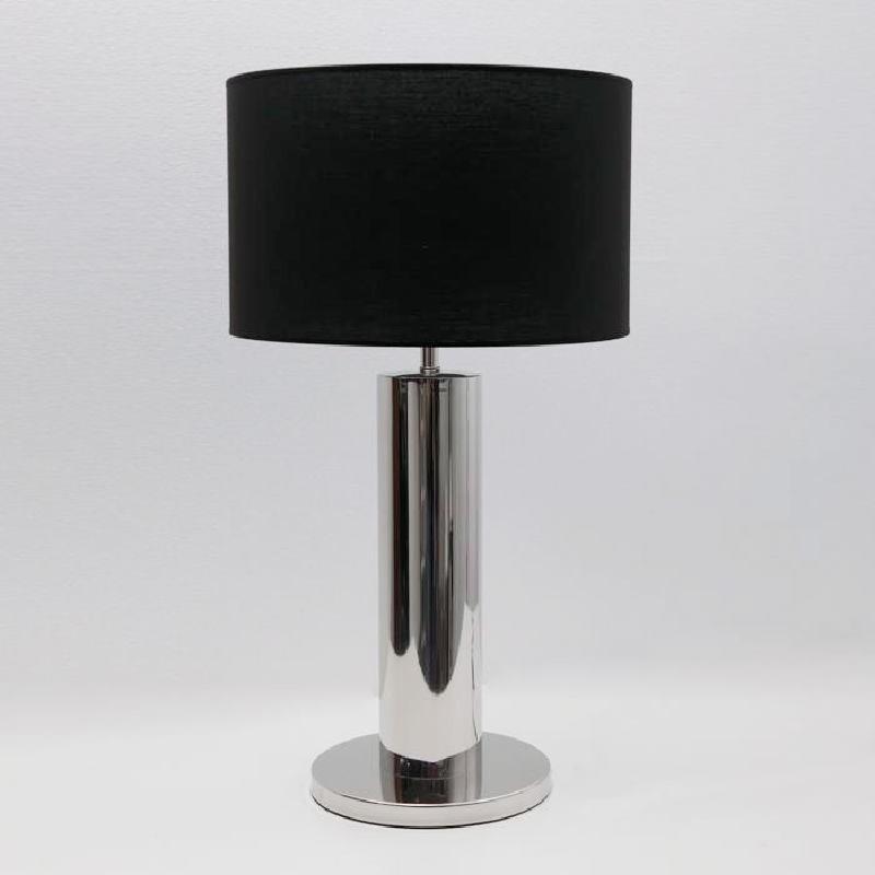 Lampada Da Tavolo Senza Paralume 25X49 Metallo Cromato