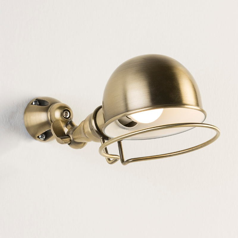 Wall Lamp 14X30X14 Metal Colour Bronze White - image 53364
