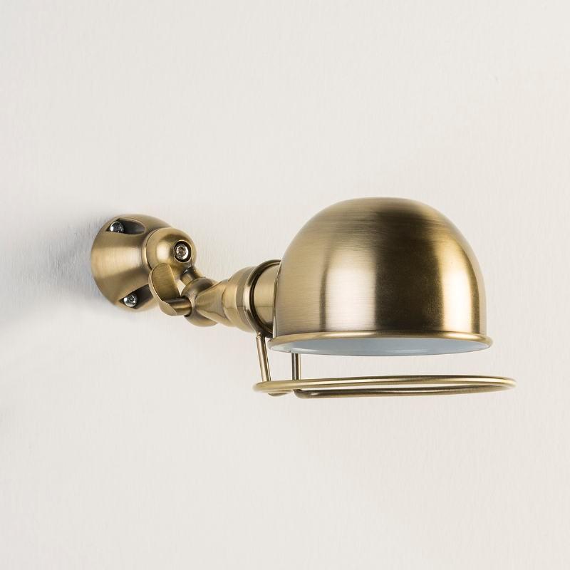 Wall Lamp 14X30X14 Metal Colour Bronze White - image 53366