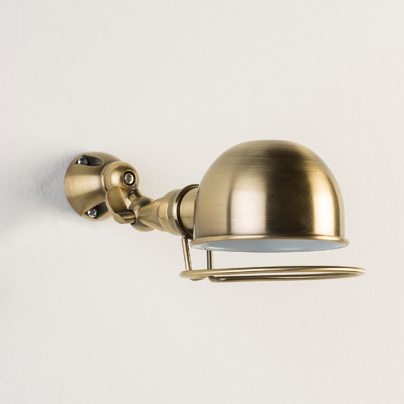Wandleuchte 14X30X14 Metallfarbe Bronze Weiß - image 53366