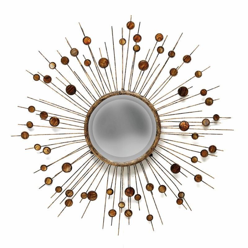 Miroir 98x5x98 Métal Nacre - image 53375
