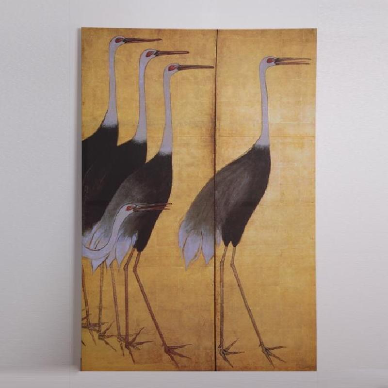 Serigrafía 120X5X180 Cigüeñas Amarillo - image 53385