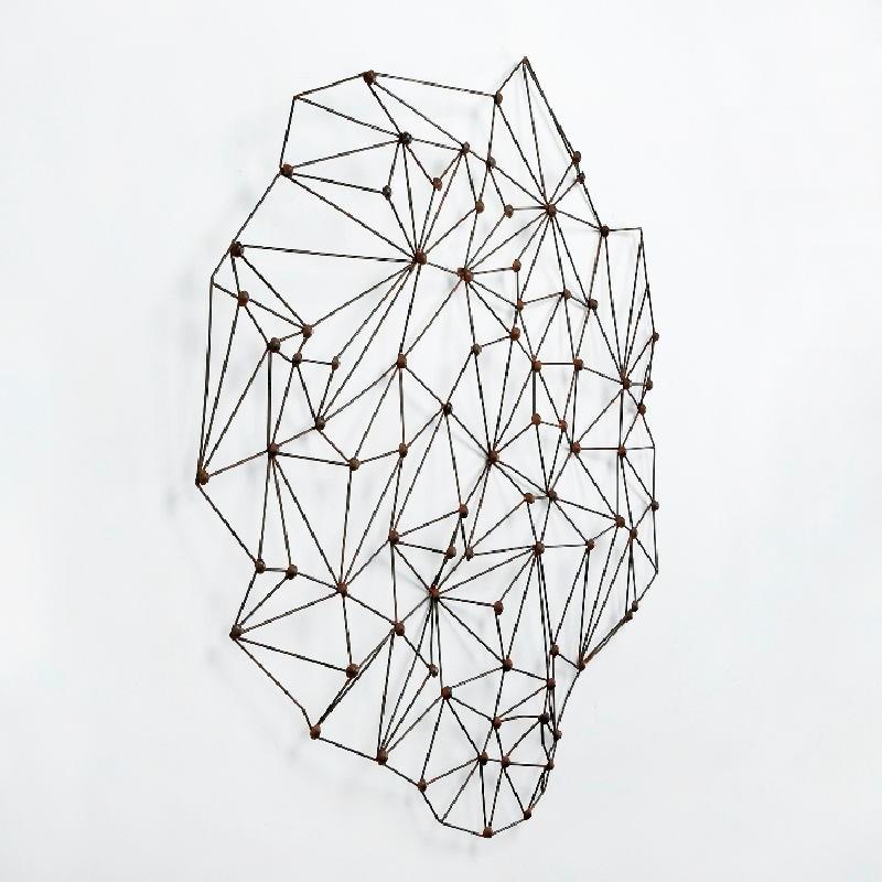 Sculpture 100X6X100 Metal Rust - image 53396