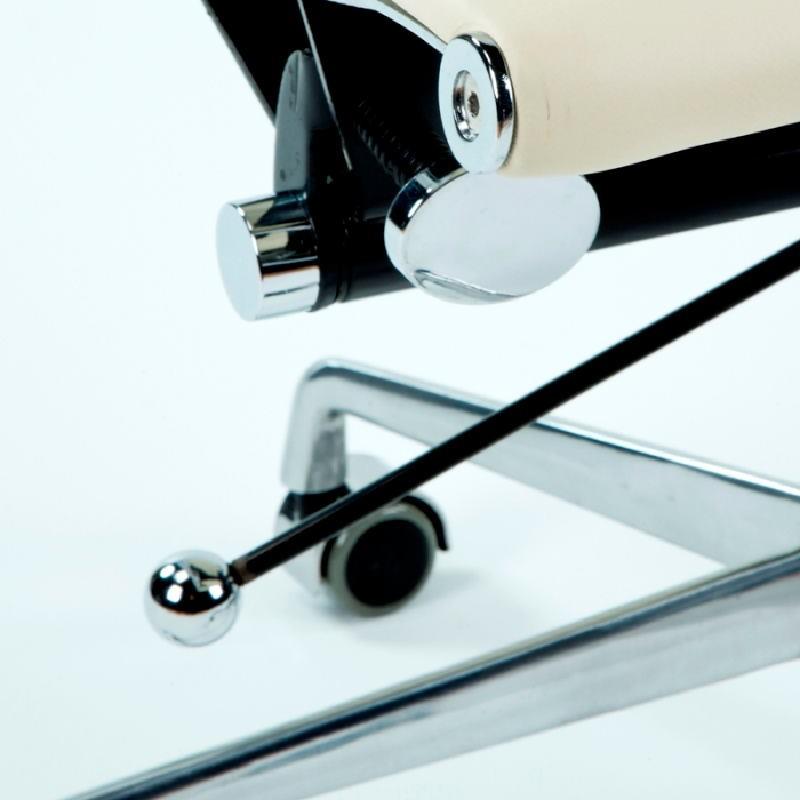 Silla De Despacho Regulable 58X64X89 97 Metal Piel Blanco Roto - image 53405