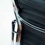 Verstellbarer Bürostuhl 58X64X89 97 Metallschwarzes Leder