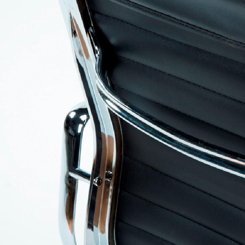 Chaise de Bureau Réglable 58x64x89 97 Métal Cuir Noir - image 53410