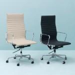 Verstellbarer Bürostuhl 58X64X107 115 Metall Schwarzes Leder