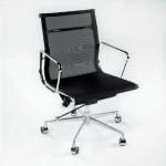 Chaise de Bureau Réglable 58x64x89 97 Métal Maille Noir
