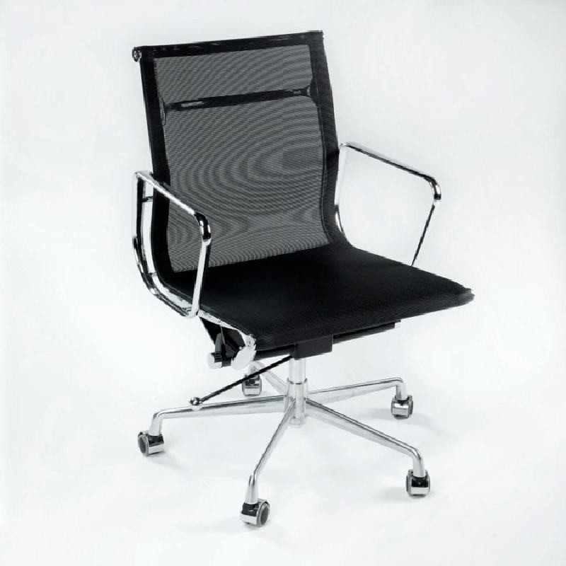 Office Adjustable Chair 58X64X89 97 Metal Mesh Black - image 53418