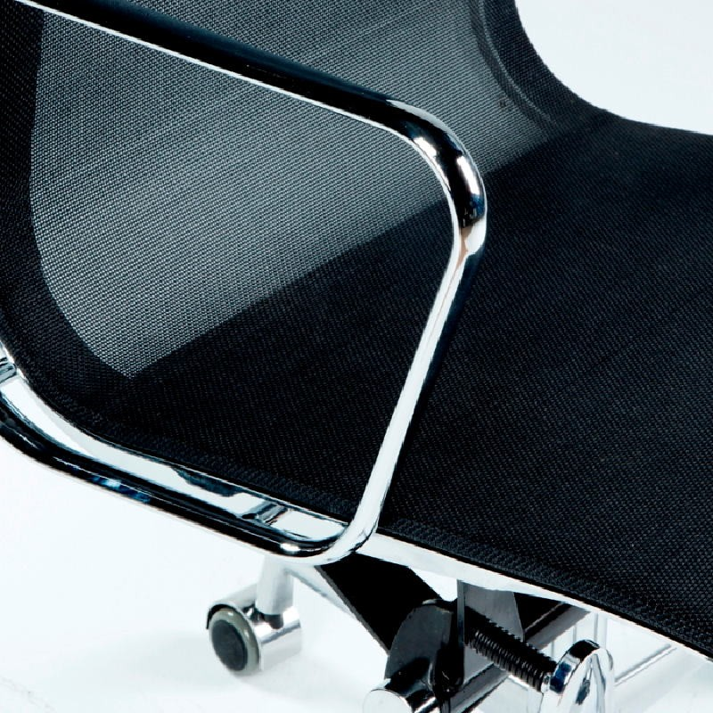 Chaise de Bureau Réglable 58x64x89 97 Métal Maille Noir - image 53421